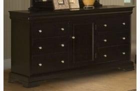 Belle Rose Black Cherry 6 Drawer Dresser