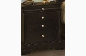 Belle Rose Black Cherry 4 Drawer Nightstand
