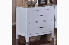 Selena White Nightstand