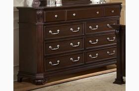 Emilie Tudor Brown 9 Drawer Dresser