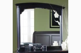 Maryhill Rubbed Black Landscape Mirror