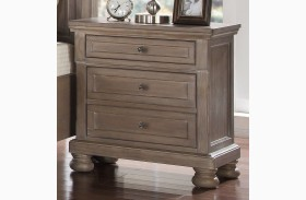 Allegra Pewter Nightstand