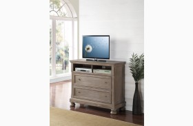 Allegra Pewter Media Console