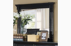 Martinique Rubbed Black Mirror