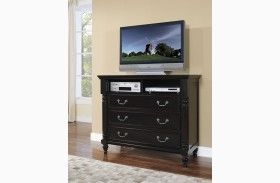 Martinique Rubbed Black Media Chest
