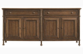 European Farmhouse Blond Campagne Cabinet