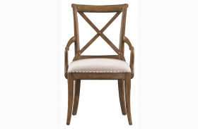 European Farmhouse Blond Fairleigh Fields Host Chair