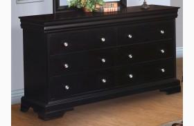Belle Rose Black Cherry Youth 6 Drawer Dresser