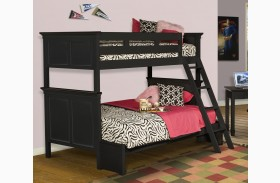 Tamarack Black Twin Over Twin Storage Bunk Bed