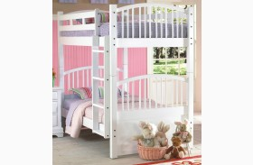 Bayfront White Twin over Twin Spindle Bunk bed