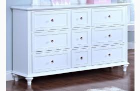Megan Youth White Dresser