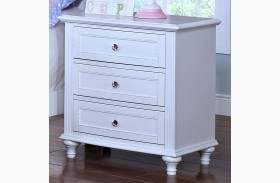 Megan Youth White Nightstand