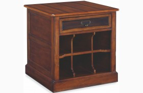 Mercantile Whiskey Rectangular Storage End Table