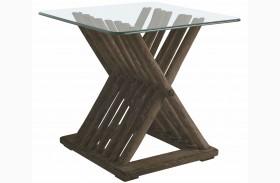 Coastal Living Resort Channel Marker Driftwood Flats End Table