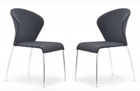 Oulu Graphite Fabric Chair Set of 2