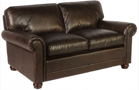 Genesis Brompton Chocolate Leather Loveseat