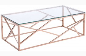 Cage Rose Gold Coffee Table