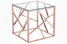 Cage Rose Gold Side Table