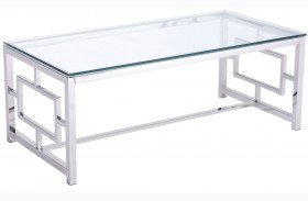 Geranium Polished Stainless Steel Coffee Table