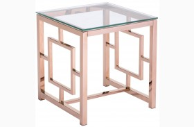 Geranium Rose Gold Side Table