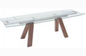 Wonder Walnut Extendable Rectangular Dining Table
