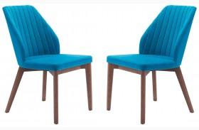 Vaz Blue Velvet Dining Chair Set of 2