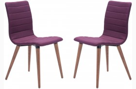 Jericho Purple Dining Chair Set of 2