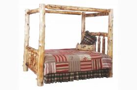 Cedar Full Canopy Log Bed