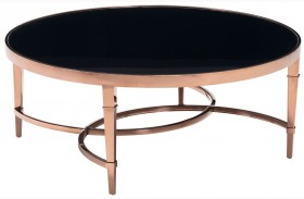 Elite Rose Gold & Black Coffee Table