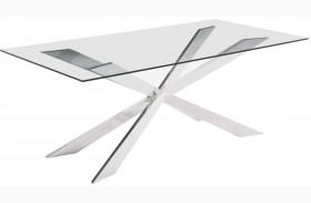 Rize Chrome Rectangular Dining Table