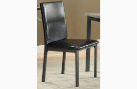 Garza Black Side Chair Set of 2