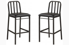 Dark Rustic Bar Stool Set of 2