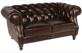 Beaufort Toberlone Leather Loveseat