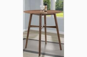 Natural Walnut Round Bar Table