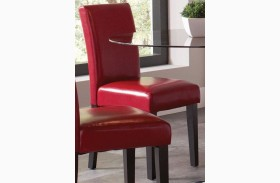 Clemente Red Chair Set of 2