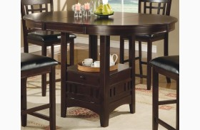 Lavon Cappuccino Counter Height Dining Table