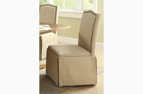 Parkins Ivory Parson Chair With Skirt Set of 2