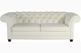 Victoria White Leather Sofa