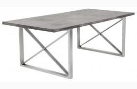 Catalan Sealed Concrete Top Rectangular Dining Table