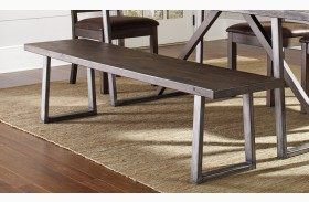 Genoa Wire Brushed Cocoa Dining Bench