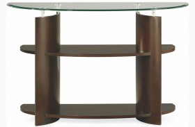 Apex Dark Umber Brown Sofa Table