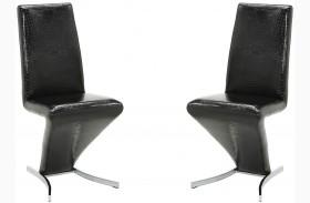 Barzini Black Side Chair Set of 2