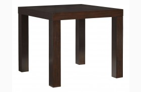 """Couture Elegance Dark Chocolate Brown 42"""" Square Counter Height Dining Table"""