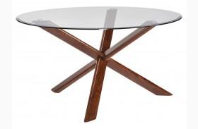 Barett Chestnut Round Dining Table