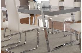 Giovanni High Gloss Grey Dining Table