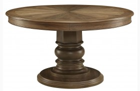 Willem Antique Ash Brown Round Dining Table