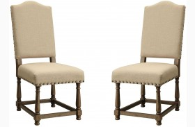 Willem Antique Ash Brown Dining Chair Set of 2