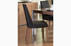 Faccini Medium Brown Side Chair Set of 2