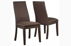 Spring Creek Brown Espresso Dining Chair Set of 2