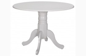 Allston White Round Dining Table